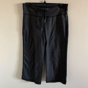 lululemon grey wide leg cropped yoga pants
